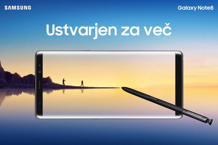 Novi mobilni telefon Samsung Galaxy Note8 prihaja na prodajne police 15. septembra