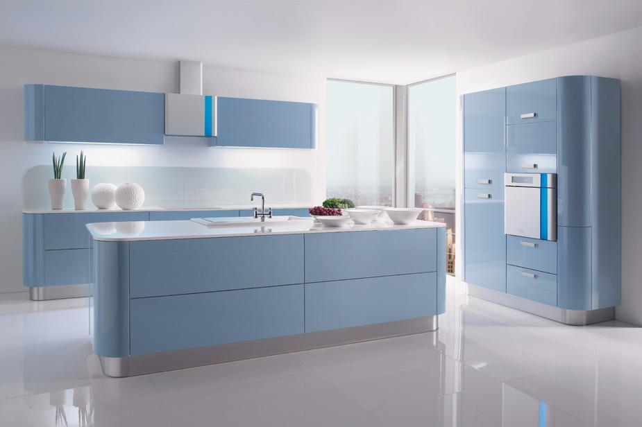 Kuhinja Gorenje Fortuna modra barva in sodobno oblikovanje