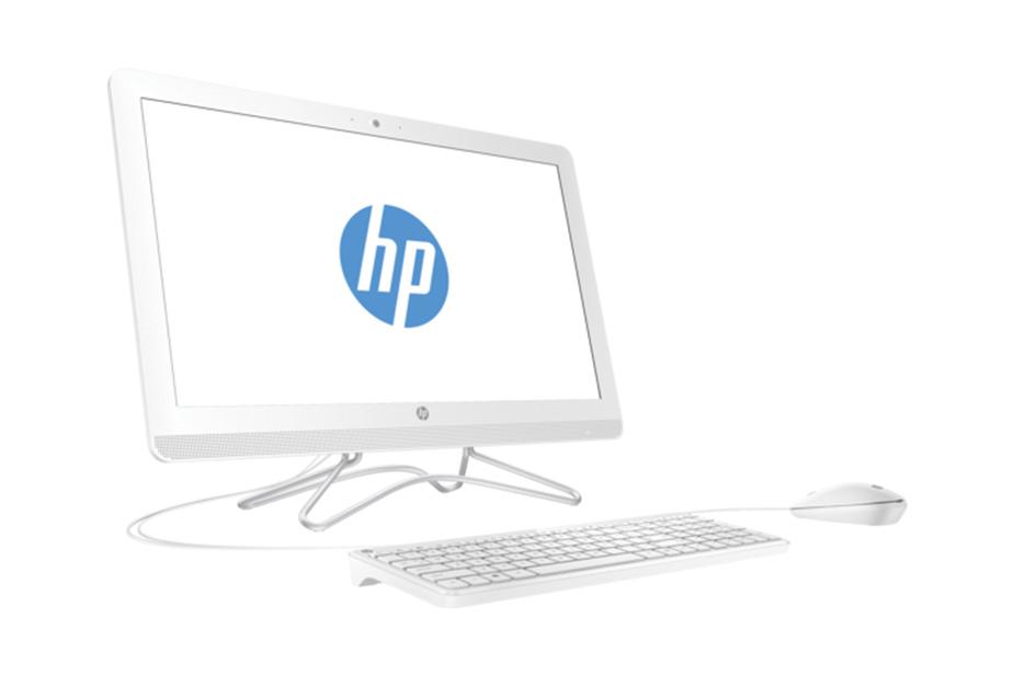 namizni racunalnik vse v enem HP ssd disk bela barva
