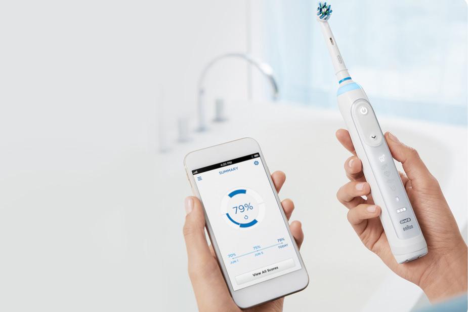 Električna zobna ščetka Oral-B aplikacija za umivanje zob