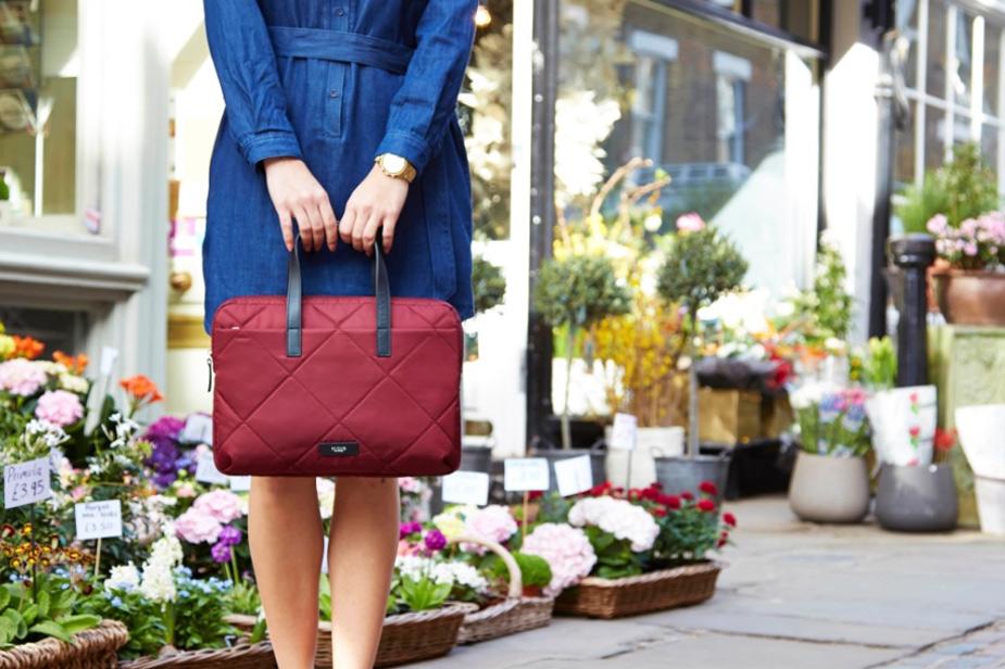 Talbot torba za prenosnik Knomo rdeče barve