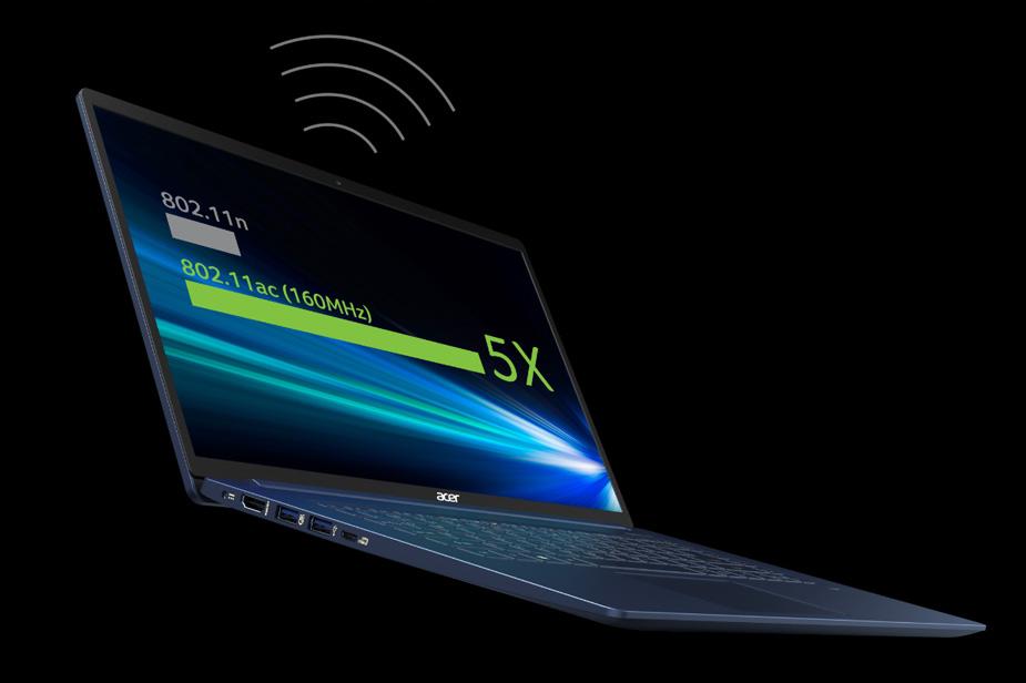 Prenosnik Acer Swift 5 povezljivost neverjetne hitrosti