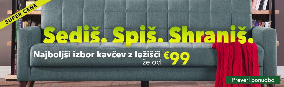 Kavči z ležiščem od 119€